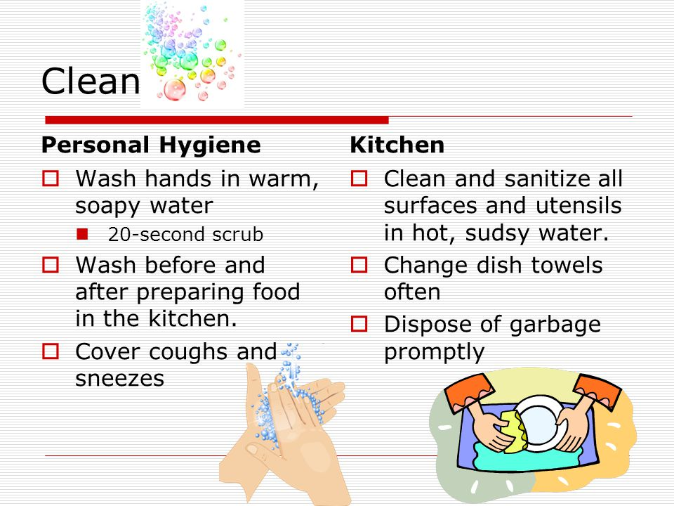 an analysis of the food safety and the clean kitchen 4 days ago  use these tools to increase food safety in the kitchen and help prevent  clean  with hot, soapy water or in dishwasher (if dishwasher-safe) after.
