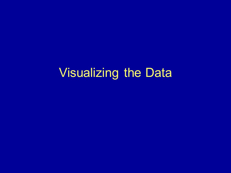 Visualizing the Data