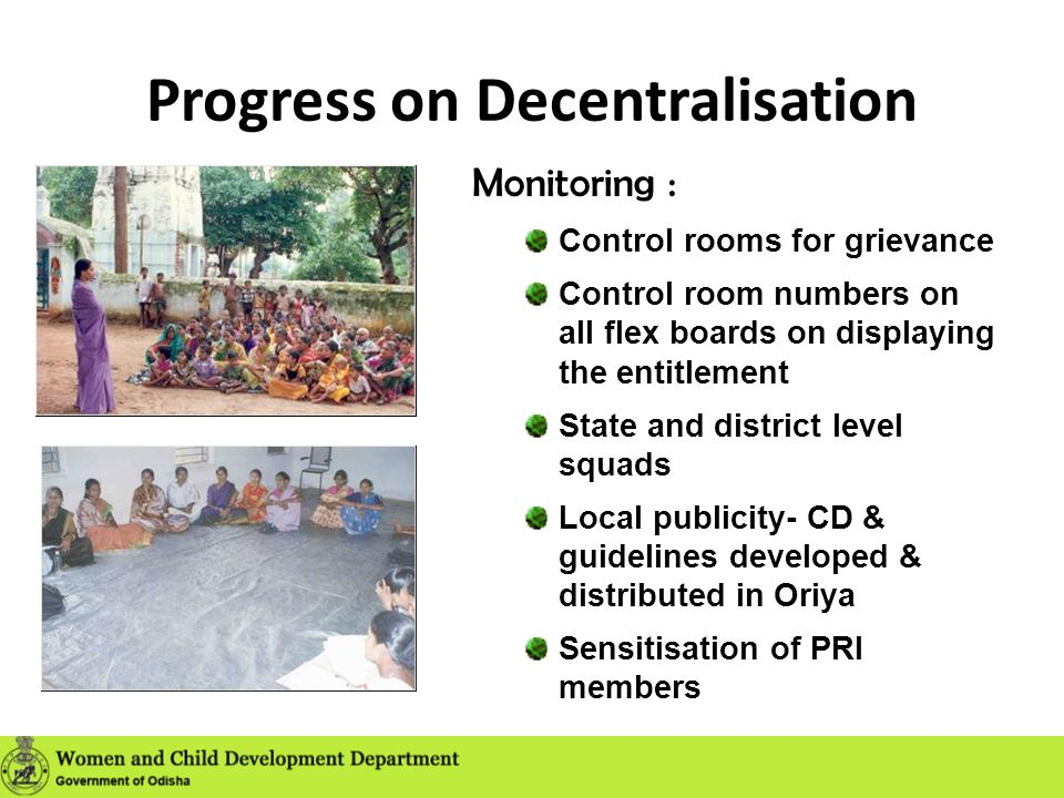 Progress on Decentralisation