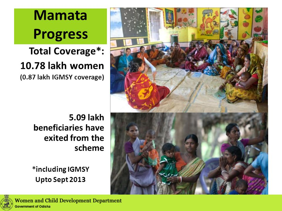 Mamata Progress Total Coverage*: 10.78 lakh women