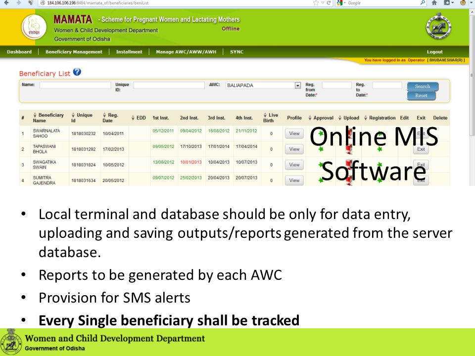 Online MIS Software