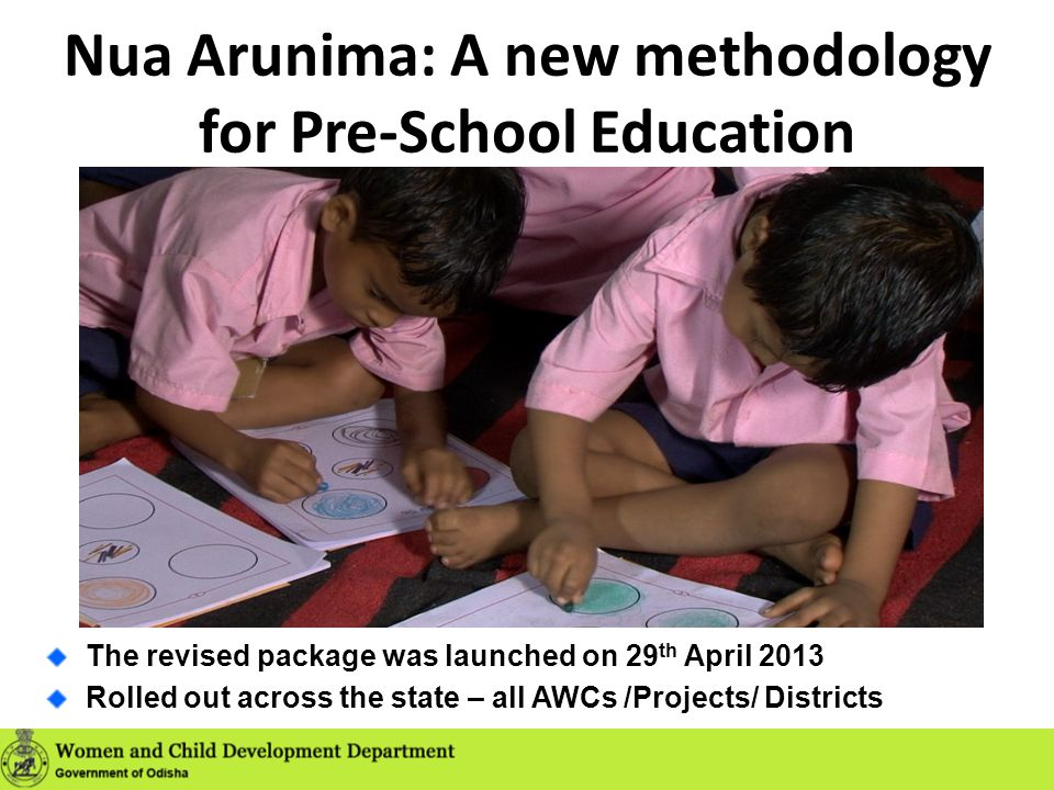 Nua Arunima: A new methodology for Pre-School Education