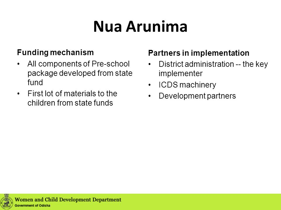 Nua Arunima Funding mechanism