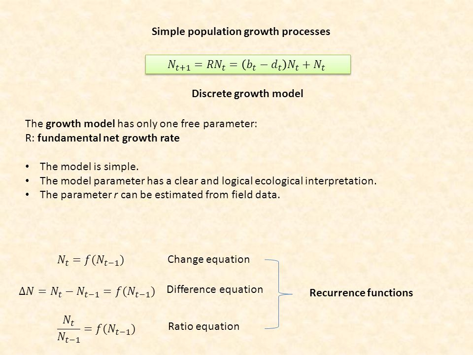 Simple population growth processes