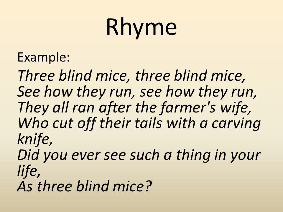 Rhyme Example: