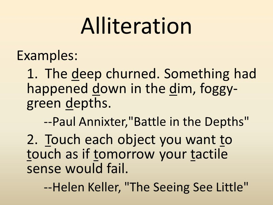 how to use alliteration in a speech
