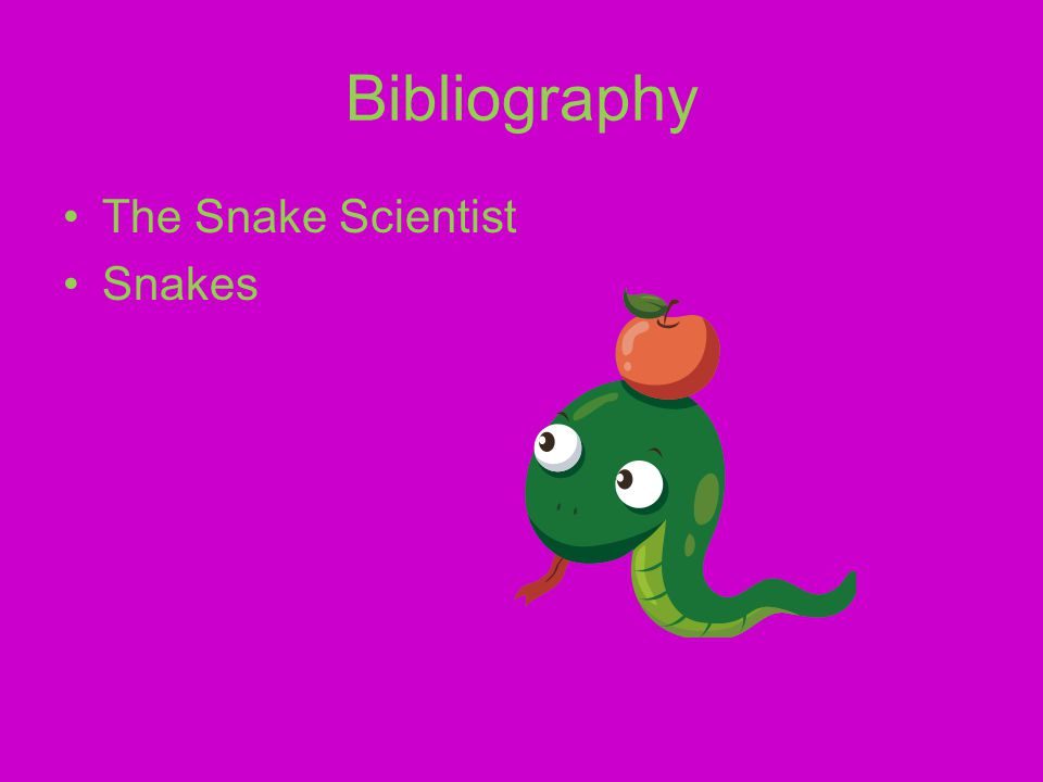 Bibliography The Snake Scientist Snakes