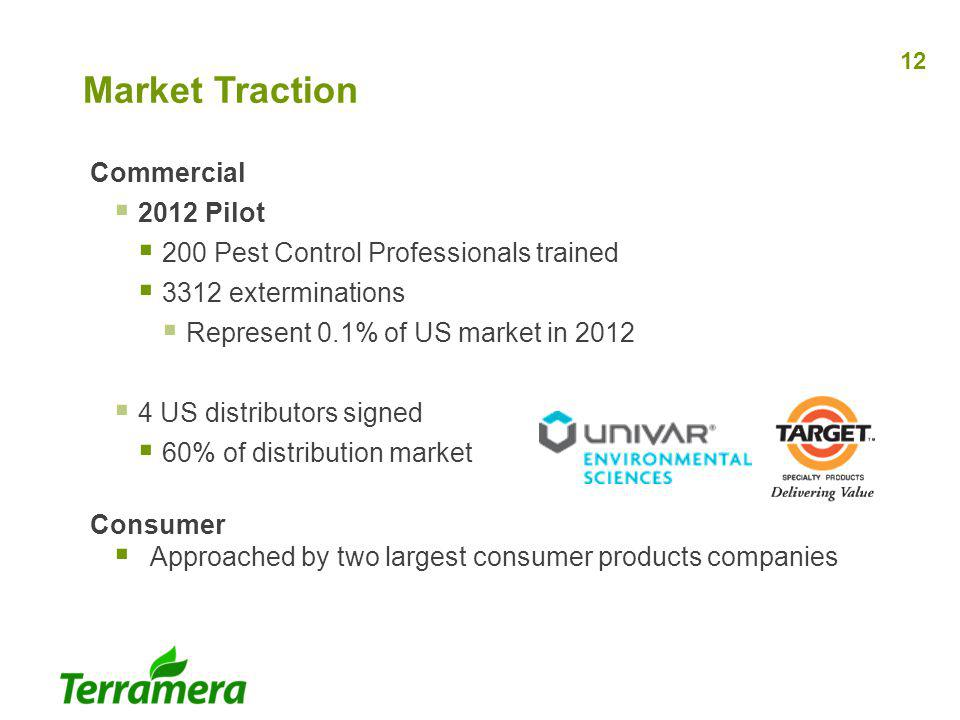 Market Traction Commercial 2012 Pilot
