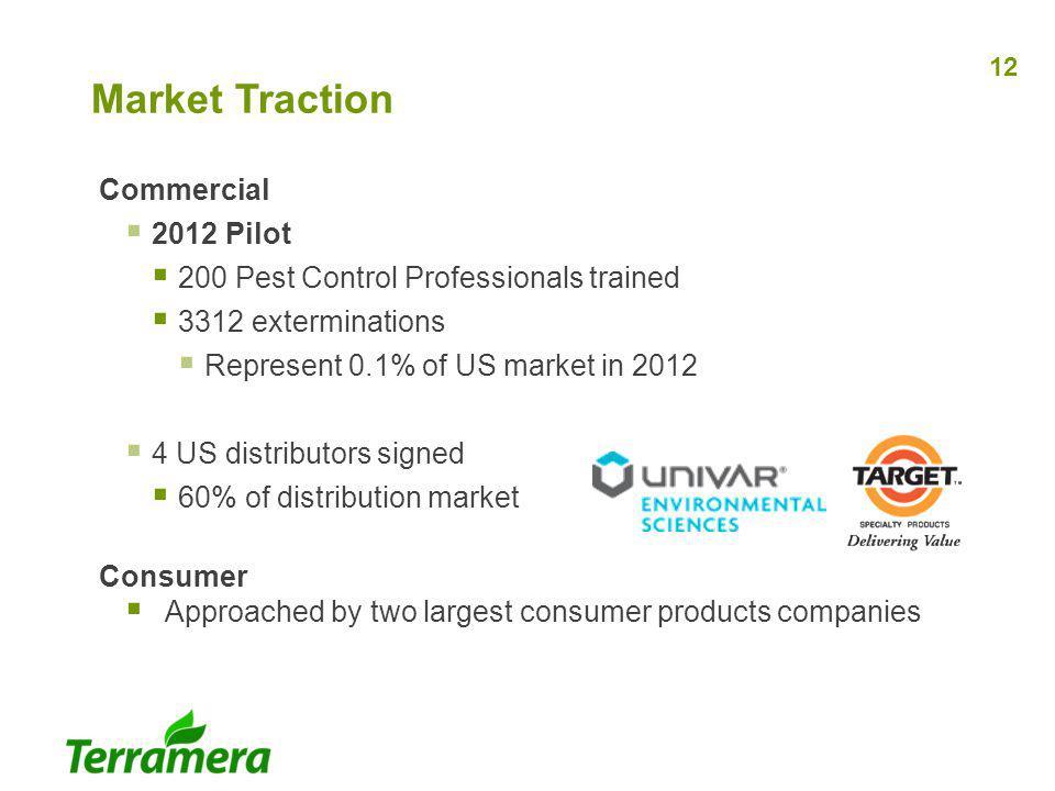 Market Traction Commercial 2012 Pilot