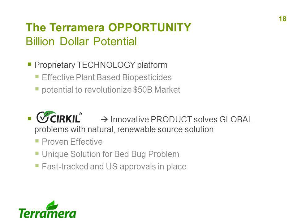 The Terramera OPPORTUNITY Billion Dollar Potential