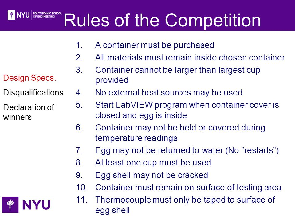 Rules of the Competition