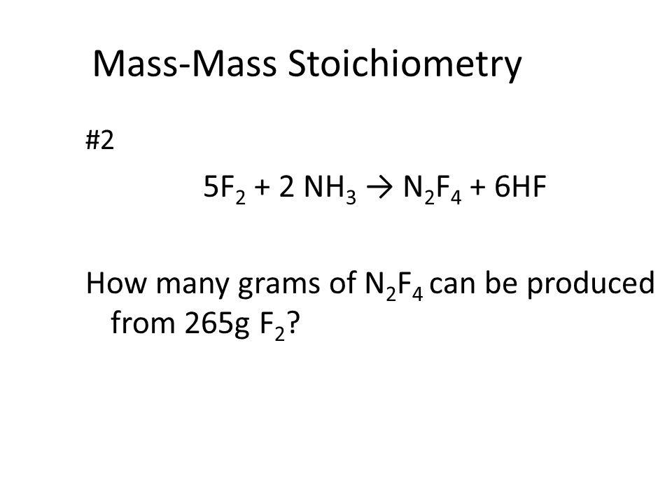 Mass-Mass Stoichiometry
