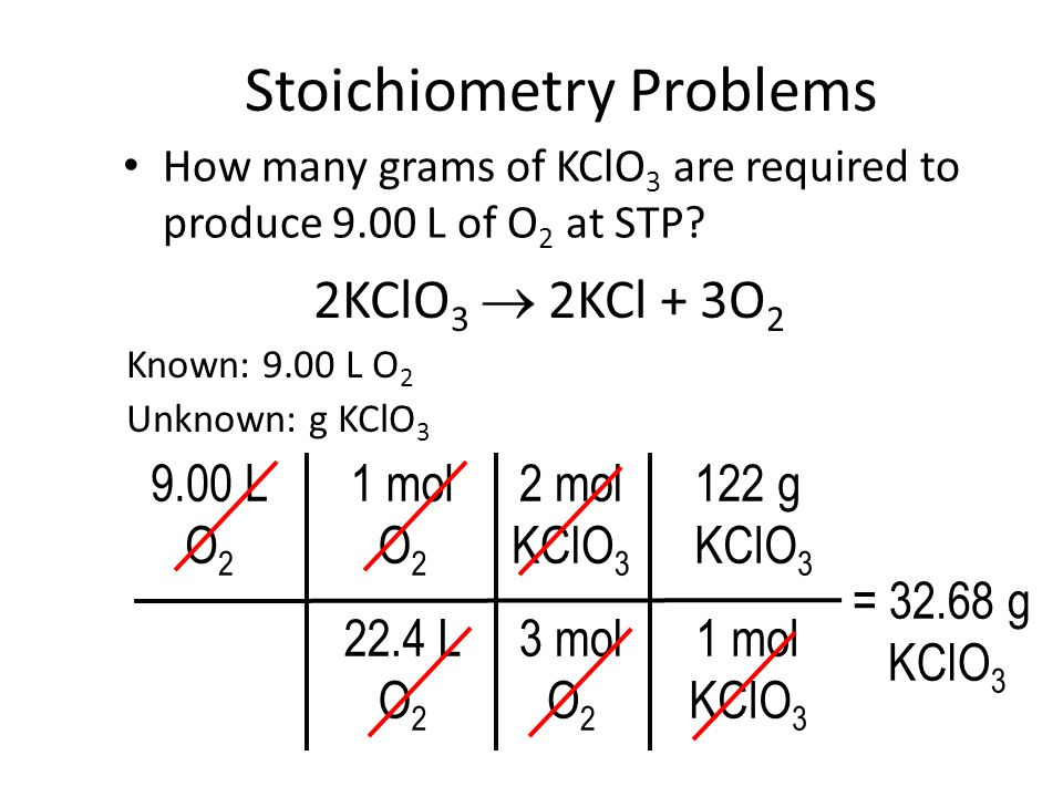Stoichiometry Problems