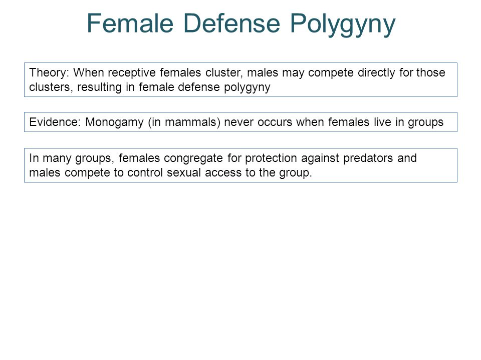 Female Defense Polygyny