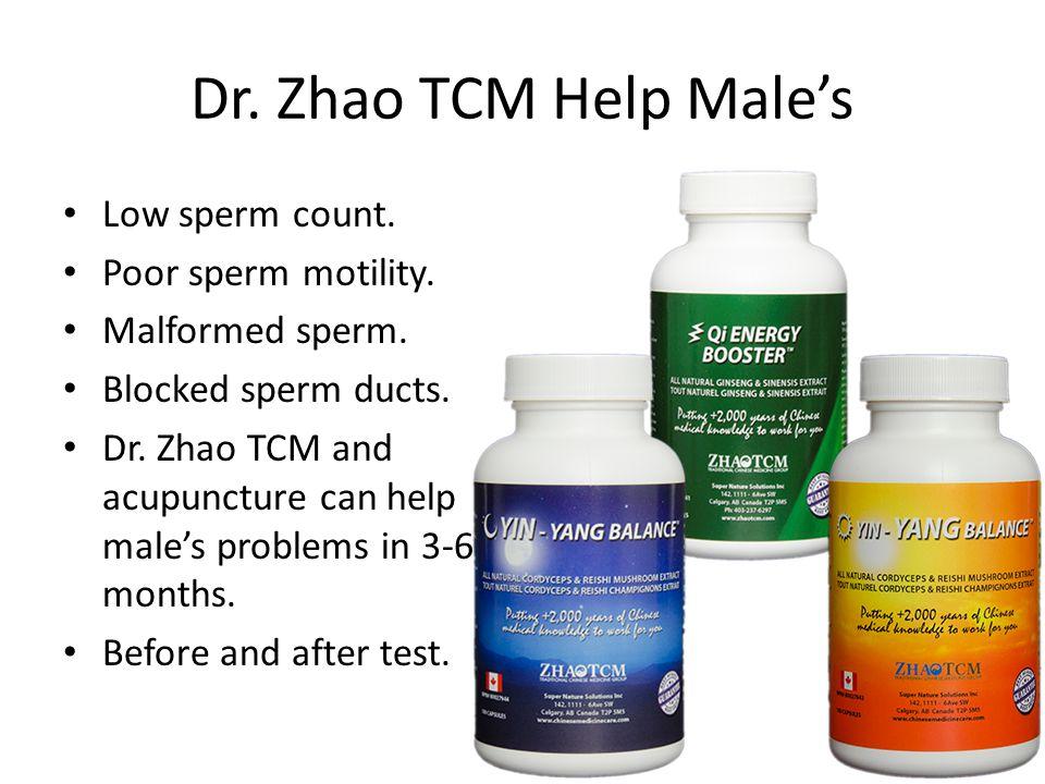 Dr. Zhao TCM Help Male's Low sperm count. Poor sperm motility.
