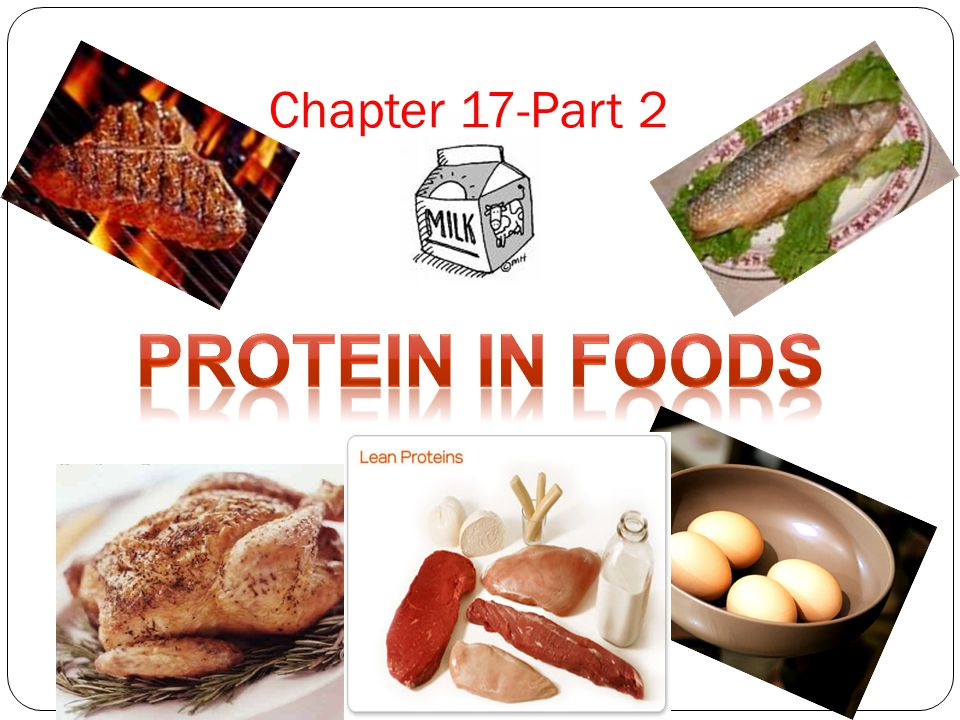 Chapter 17-Part 2 Protein in Foods