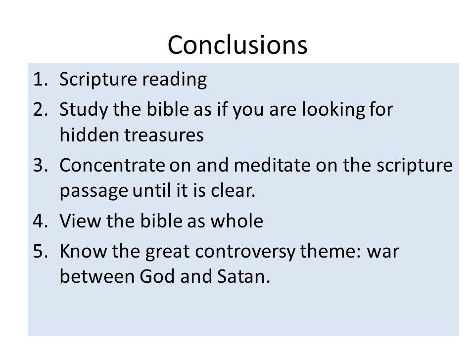 Conclusions Scripture reading