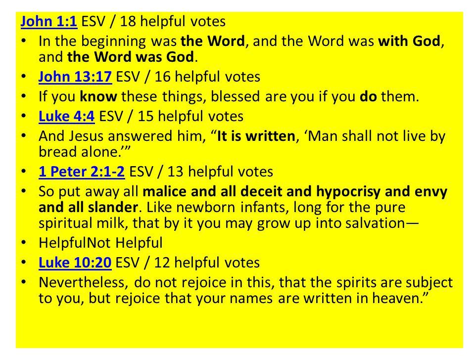 John 1:1 ESV / 18 helpful votes