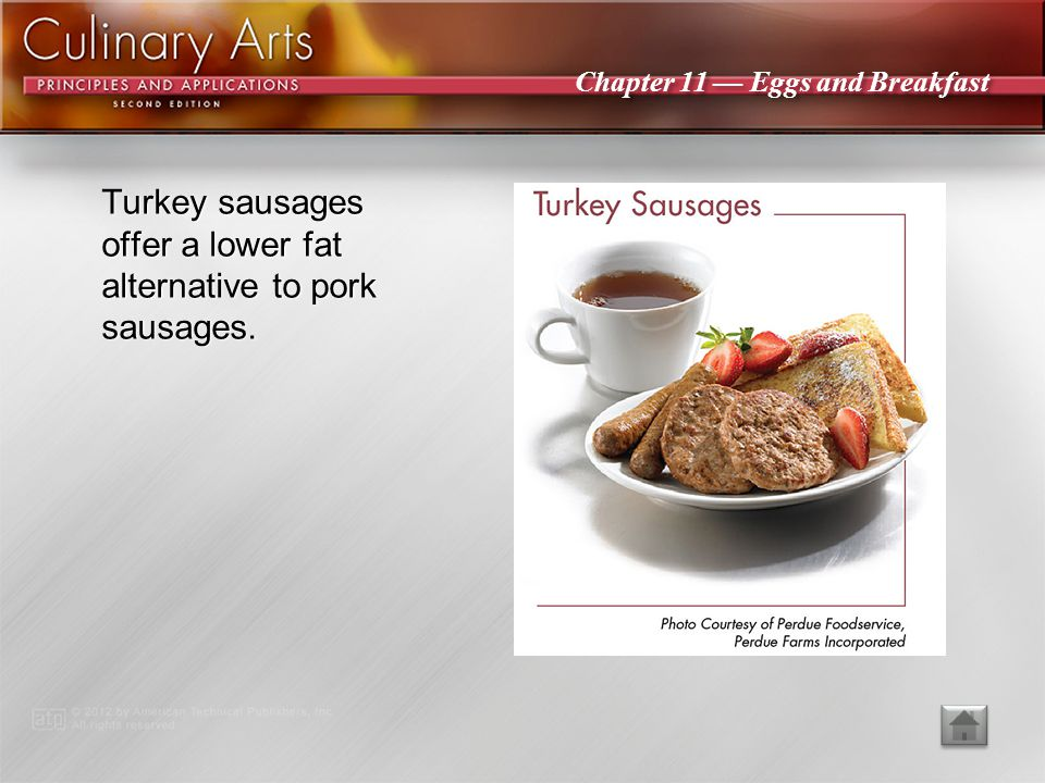 Turkey sausages offer a lower fat alternative to pork sausages.