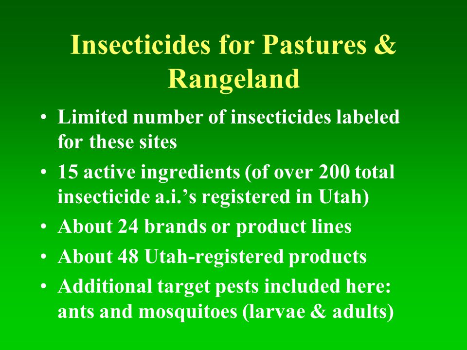 Insecticides for Pastures & Rangeland