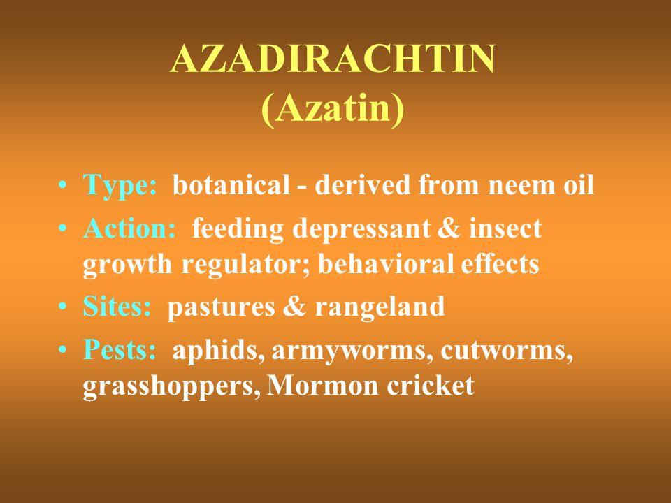 AZADIRACHTIN (Azatin)