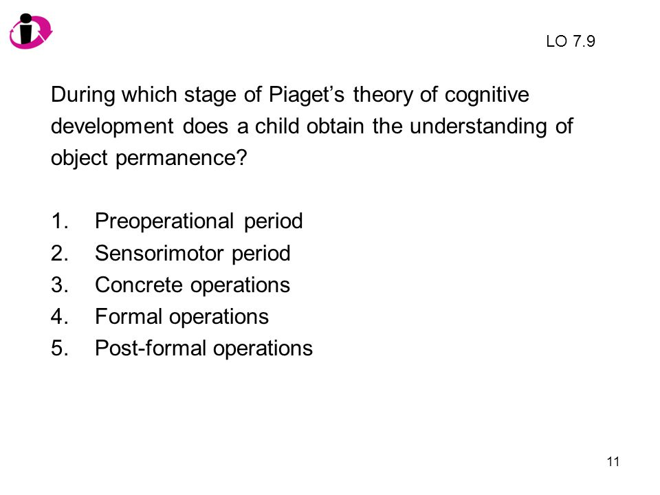 During which stage of Piaget's theory of cognitive