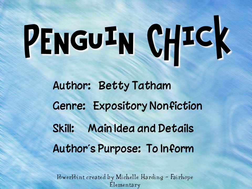 PowerPoint created by Michelle Harding – Fairhope Elementary