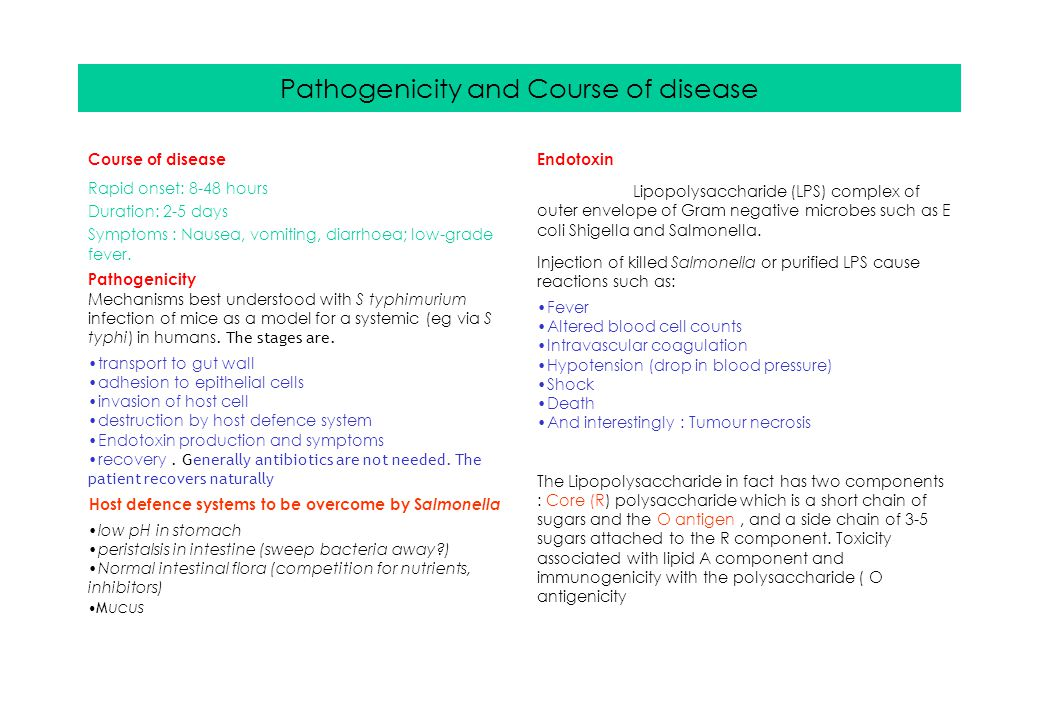 Pathogenicity and Course of disease