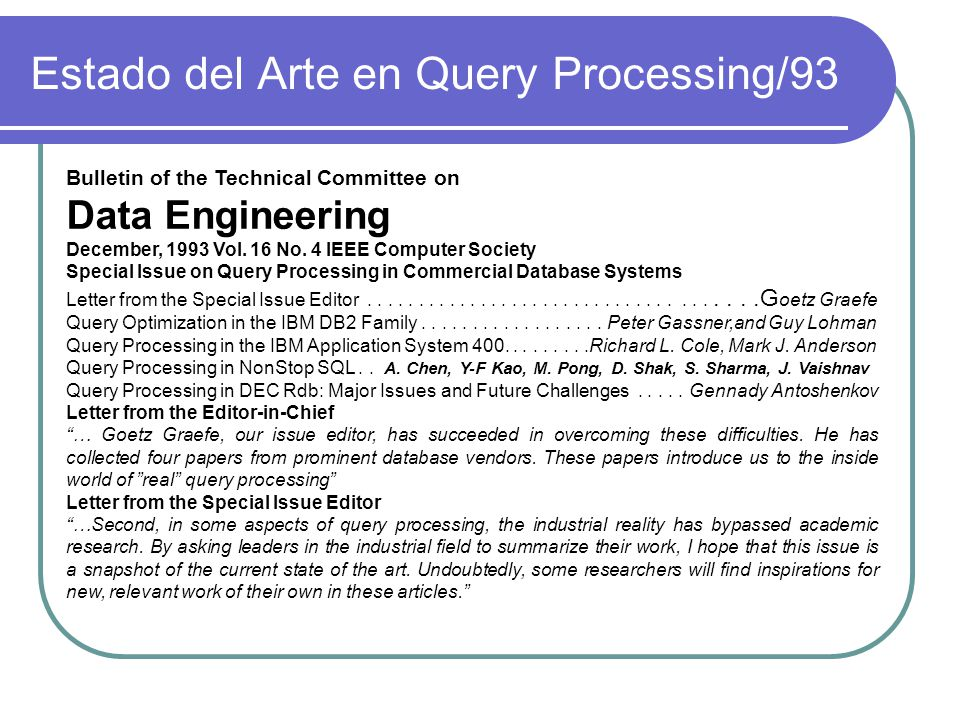 Estado del Arte en Query Processing/93