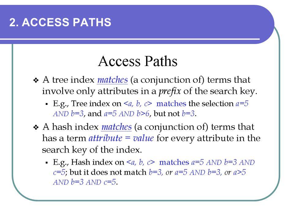 2. ACCESS PATHS