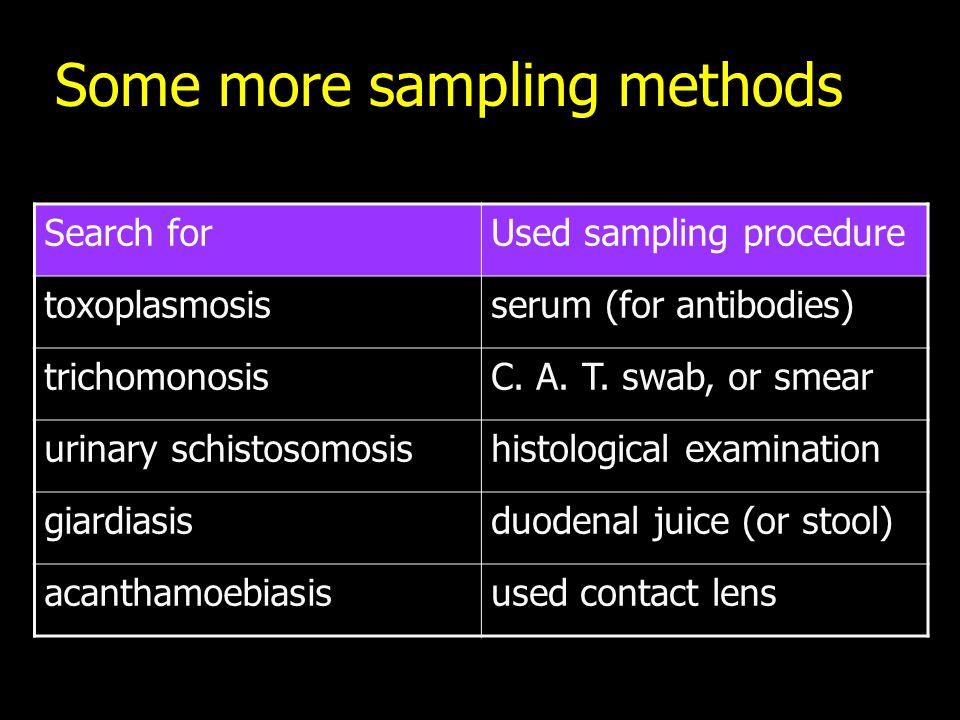 Some more sampling methods