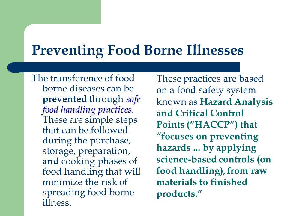 Preventing Food Borne Illnesses