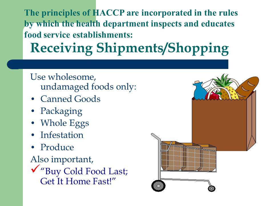 Receiving Shipments/Shopping