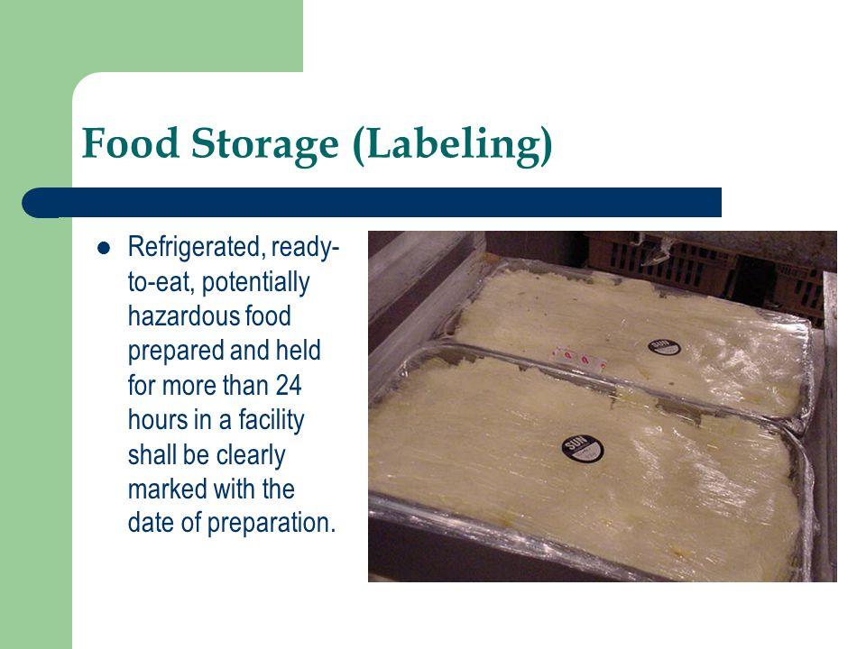 Food Storage (Labeling)