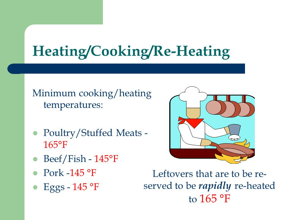 Heating/Cooking/Re-Heating
