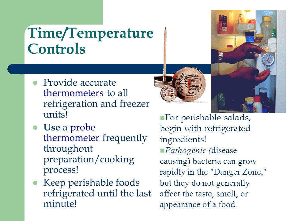 Time/Temperature Controls