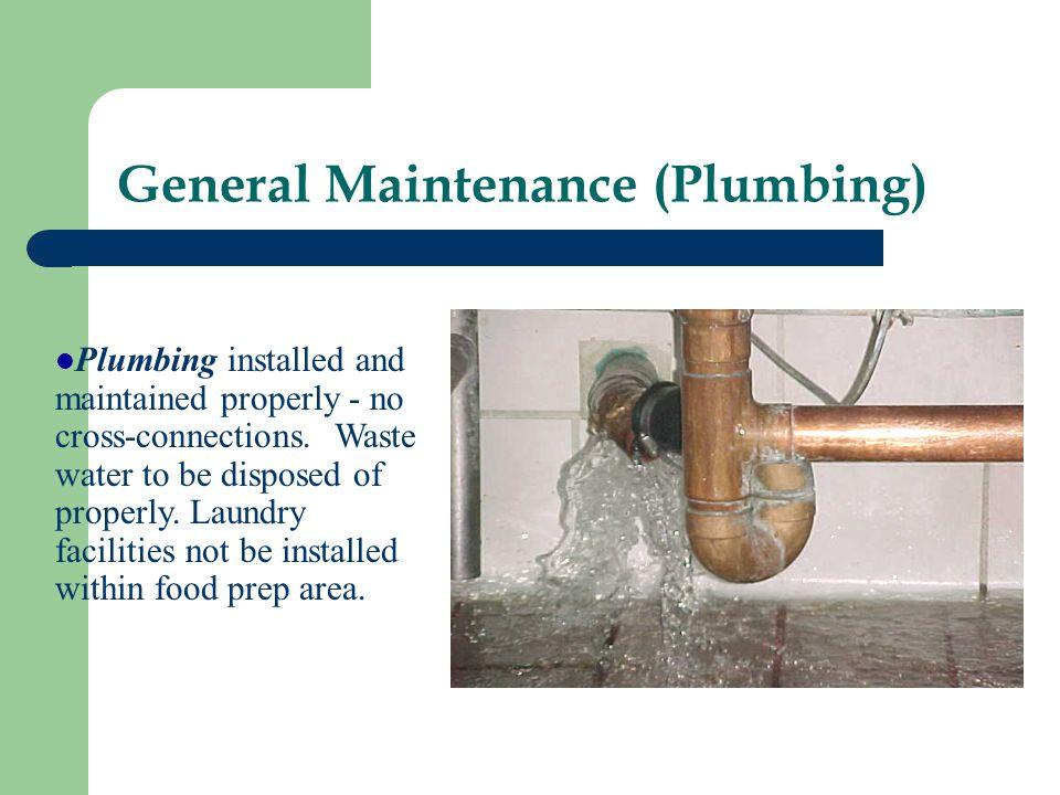 General Maintenance (Plumbing)