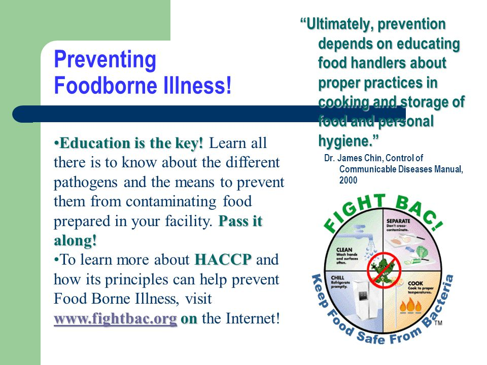 Preventing Foodborne Illness!