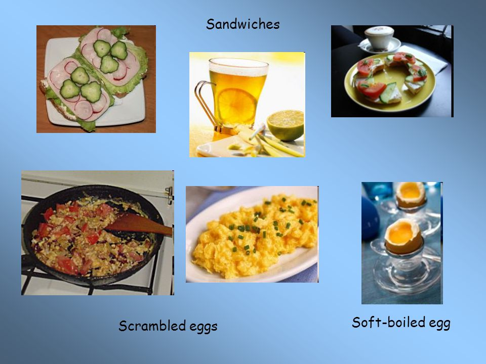 Sandwiches Soft-boiled egg Scrambled eggs