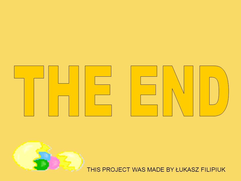THE END THIS PROJECT WAS MADE BY ŁUKASZ FILIPIUK