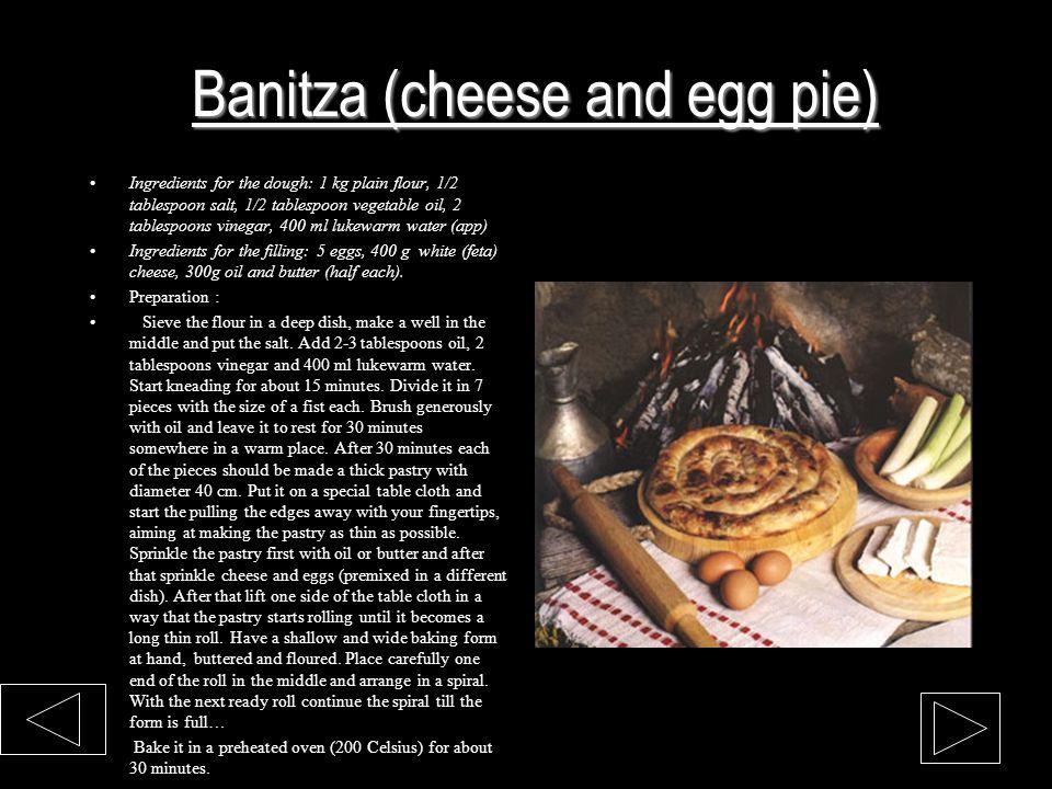 Banitza (cheese and egg pie)