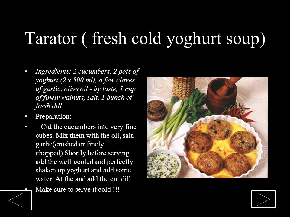 Tarator ( fresh cold yoghurt soup)
