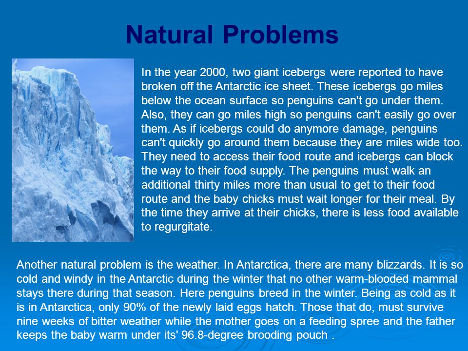 Natural Problems