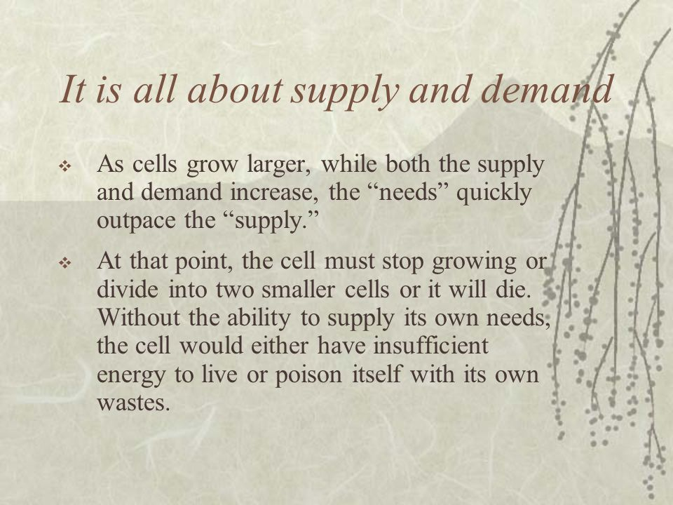 It is all about supply and demand