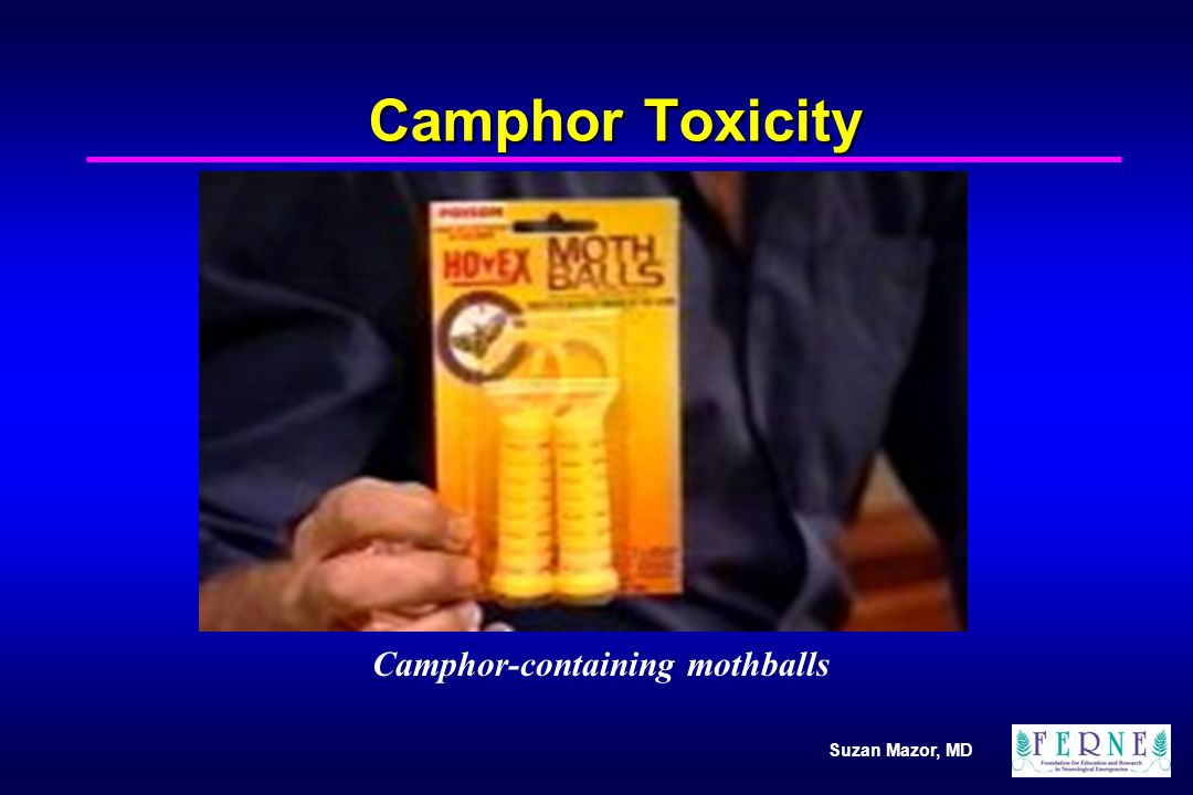 Camphor-containing mothballs