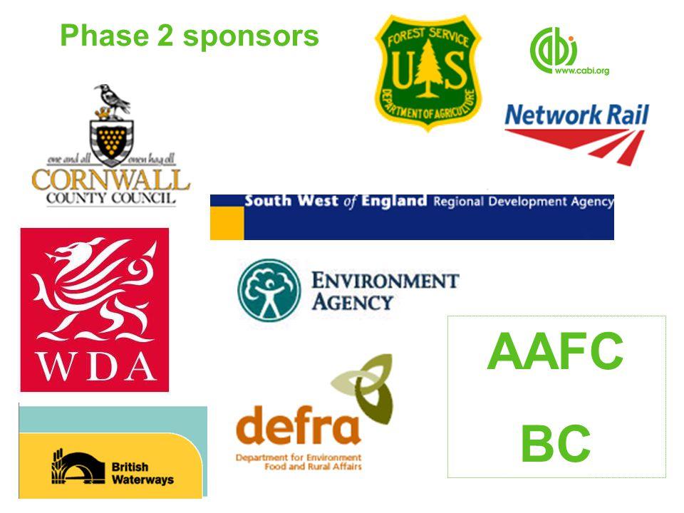 Phase 2 sponsors AAFC BC
