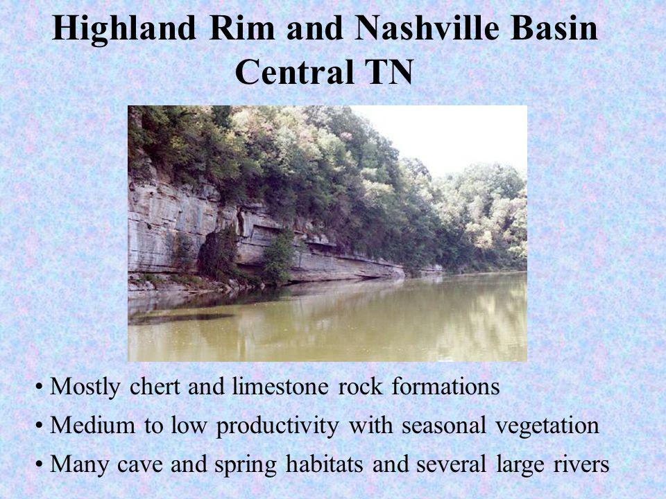 Highland Rim and Nashville Basin