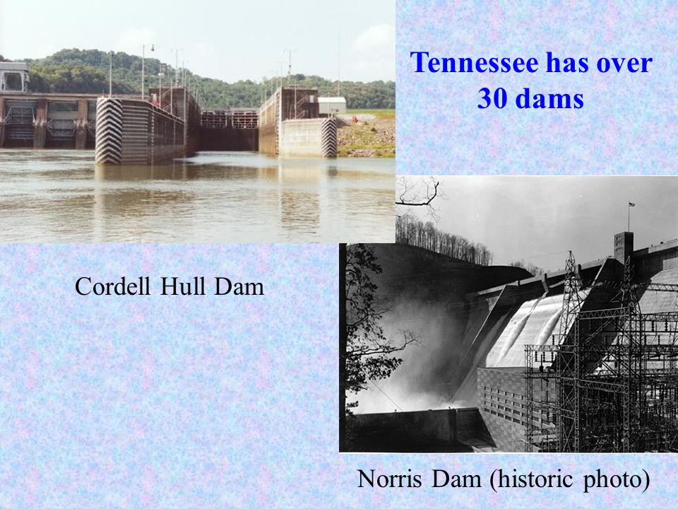 Tennessee has over 30 dams