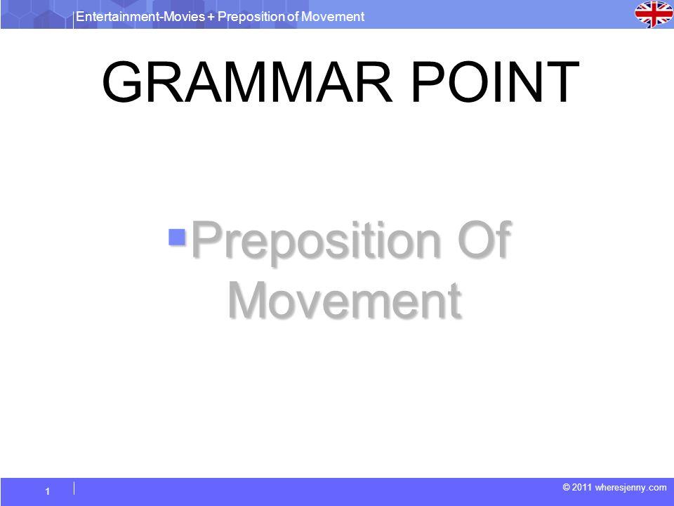 Preposition Of Movement