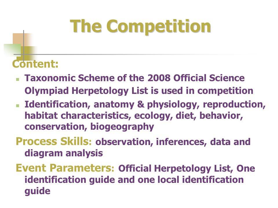 The Competition Content: